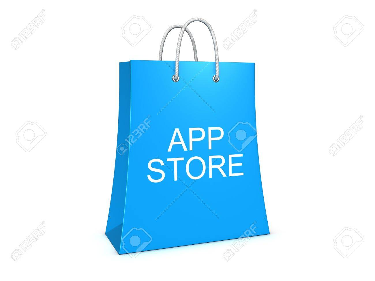 Application Store Shopping Bag. Isolated On The White Background ...