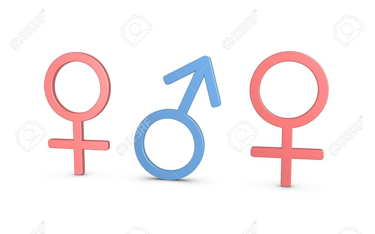 One male for two females. Demographic disproportion Stock Photo - 11275543