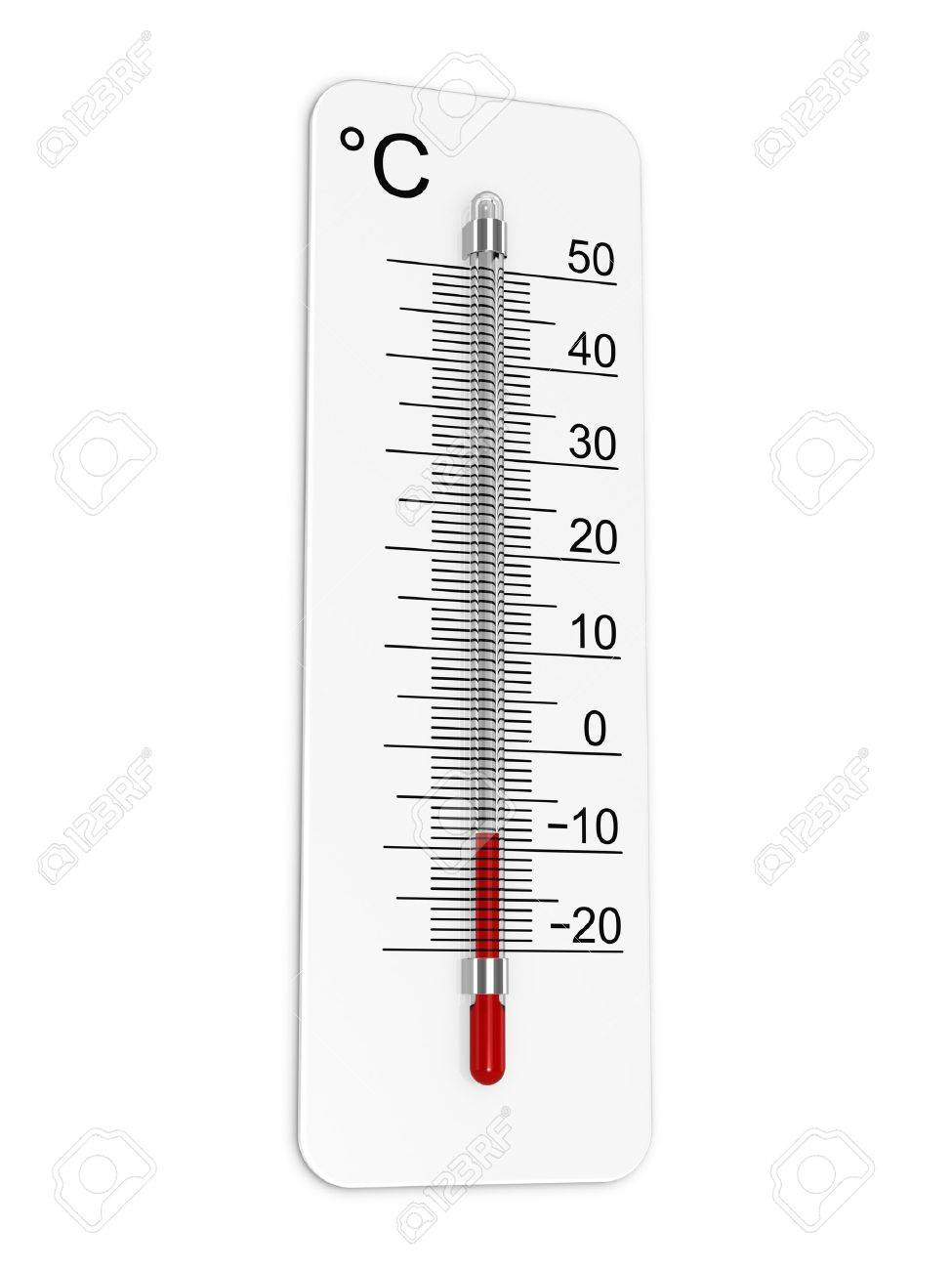 Thermometer indicates low temperature Stock Photo - 11449840