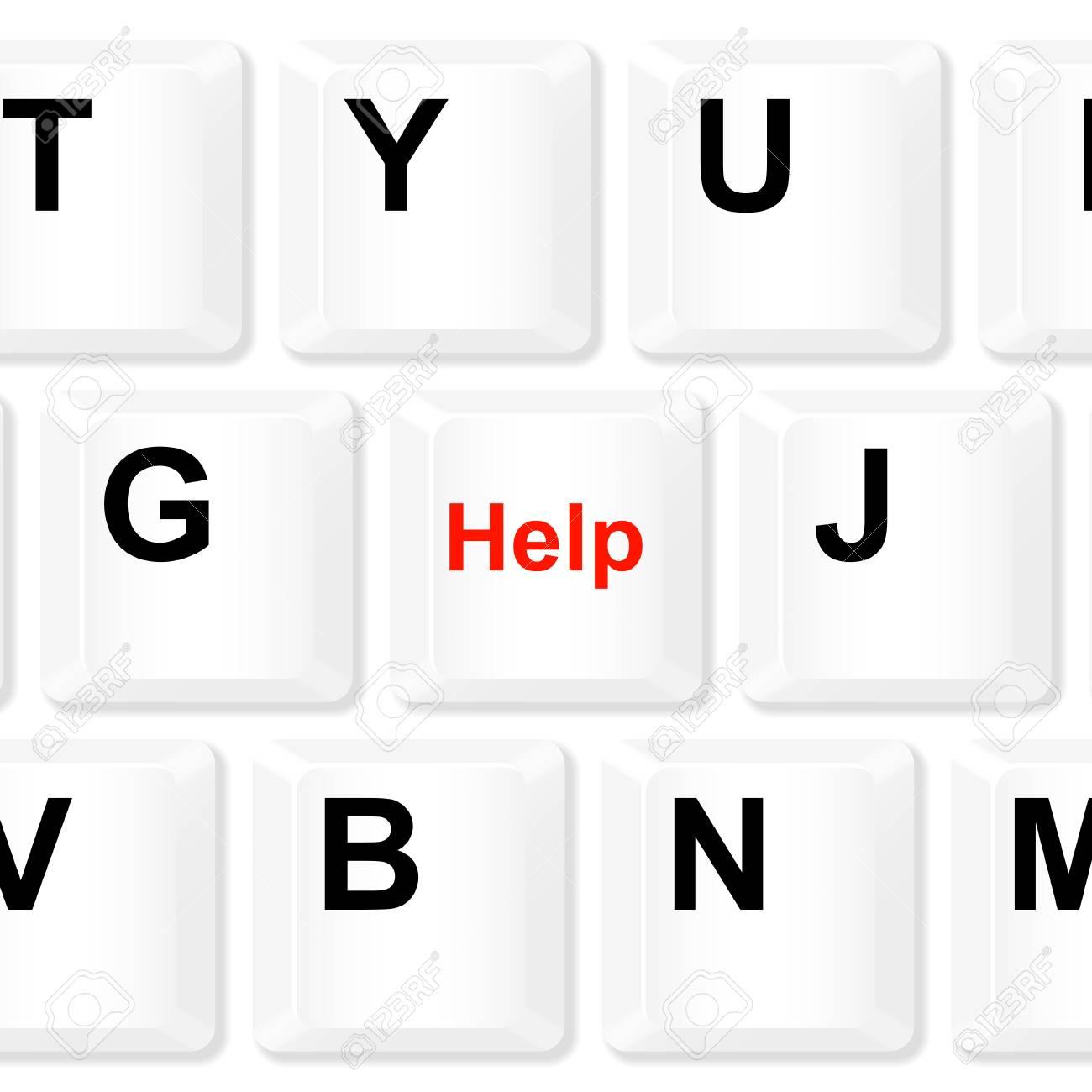 Help button Stock Vector - 15824577