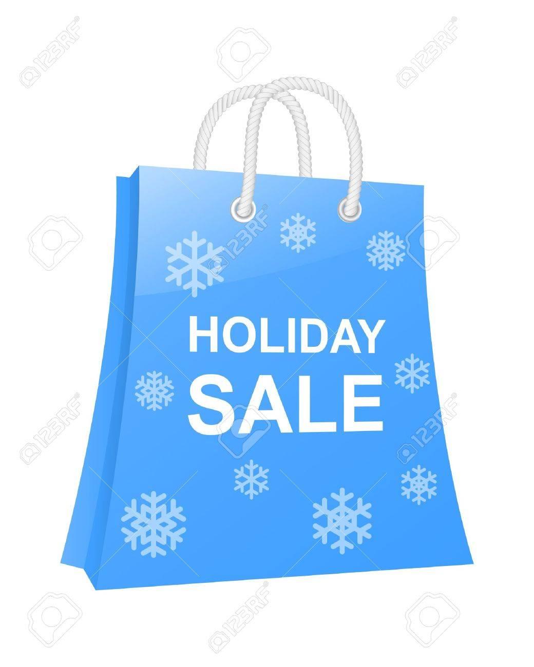 Winter holidays shopping bag. Stock Vector - 16023057