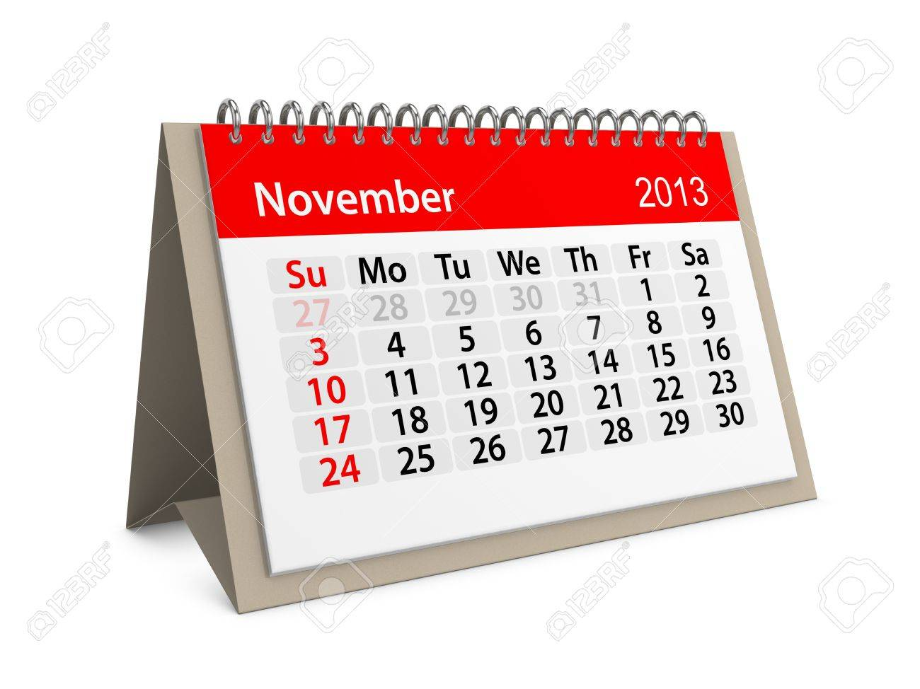 Monthly calendar for New Year 2013  November Stock Photo - 16555209