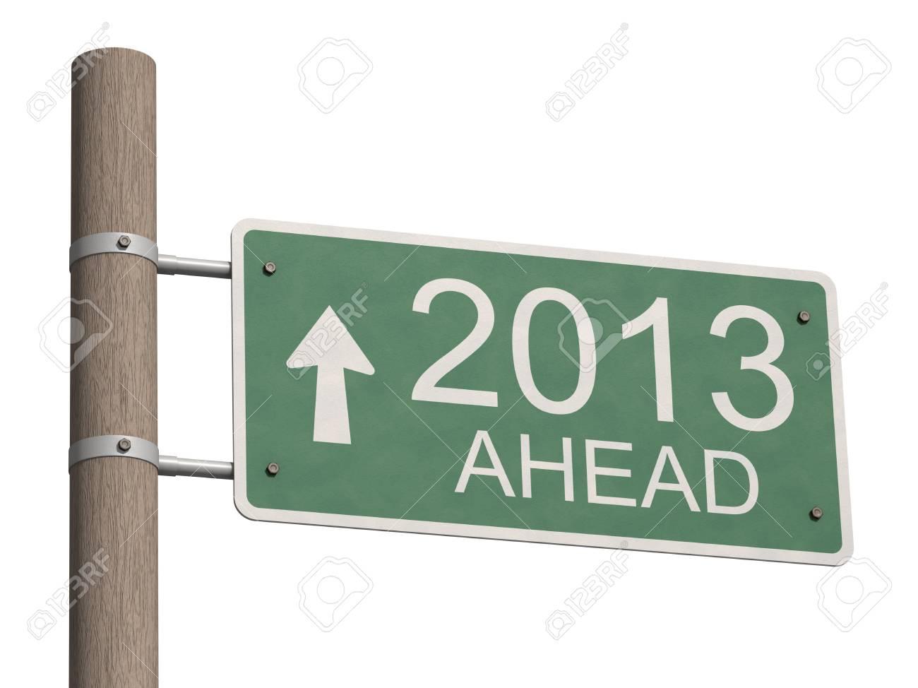 New Year 2013 sign  3d illustration Stock Illustration - 16699878
