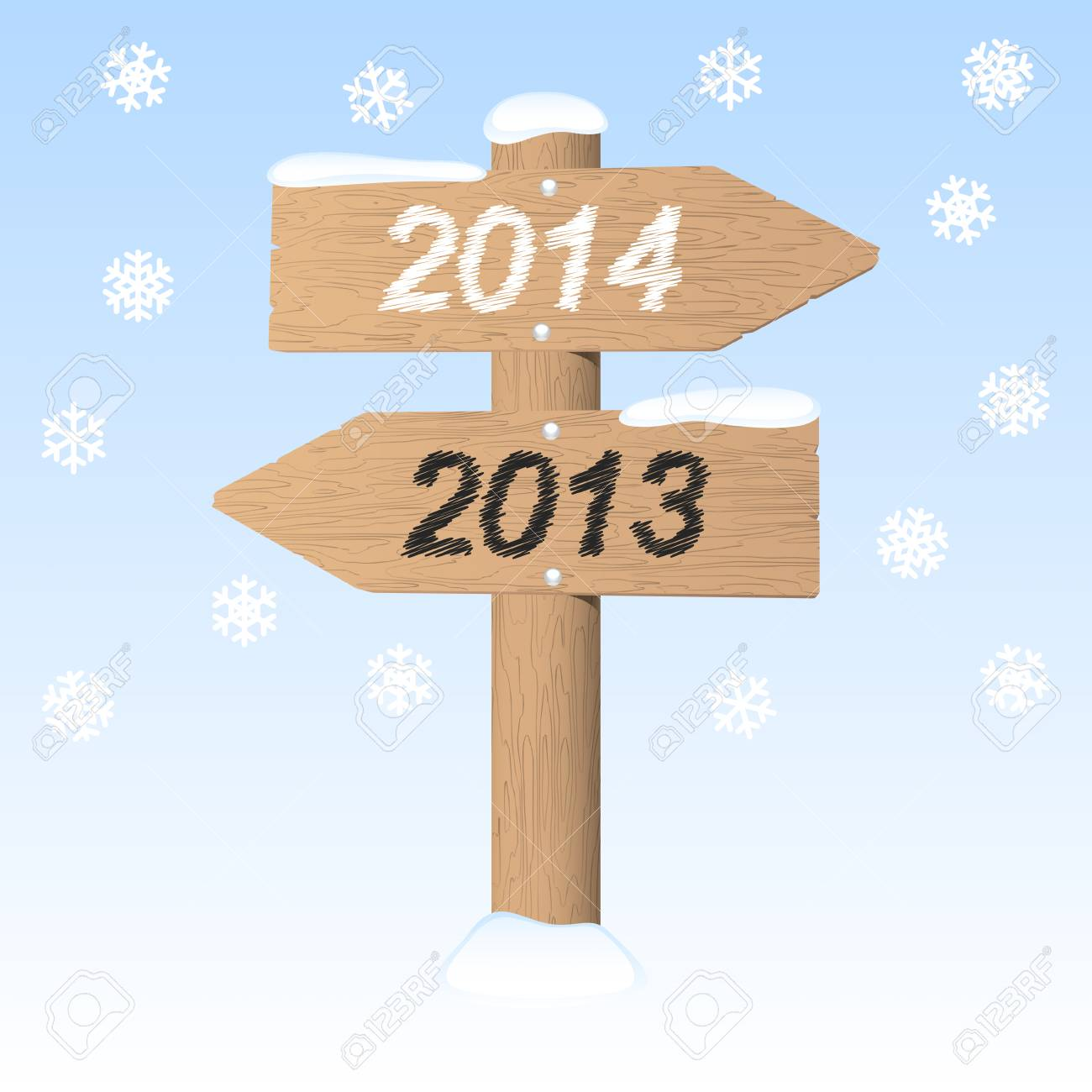 New Year 2014 sign. Vector illustration. Stock Vector - 24167971