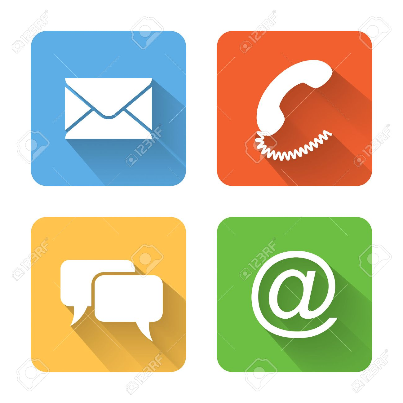 Flat contacts icons. - 31663476