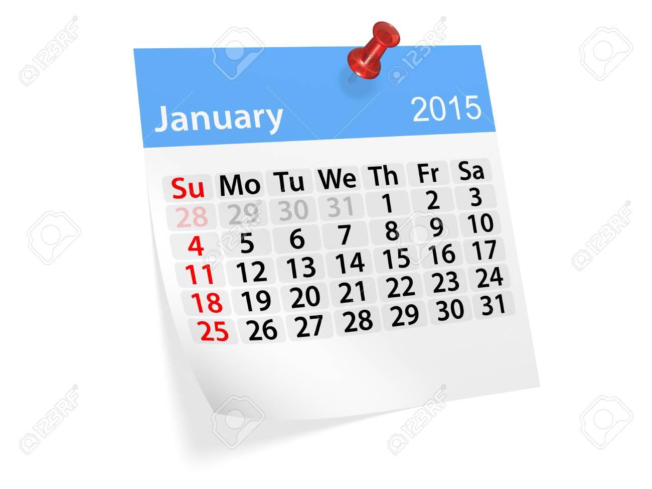 Calendario Anno 2015 Mensile.Calendario Mensile Per L Anno 2015 Gennaio