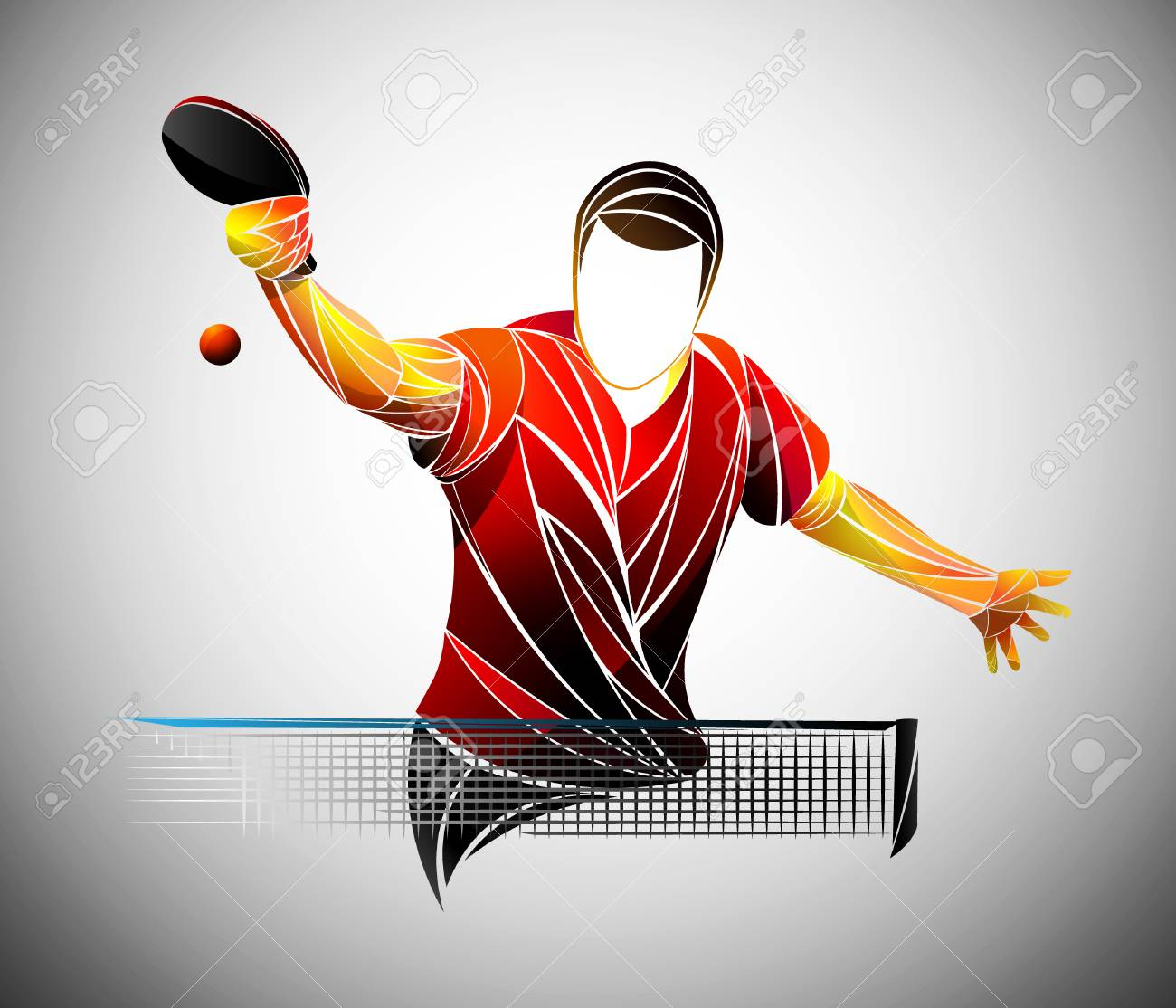 Table Tennis Ping Pong Table Tennis Player Athlete Game Royalty Free Cliparts Vectors And Stock Illustration Image 110250061