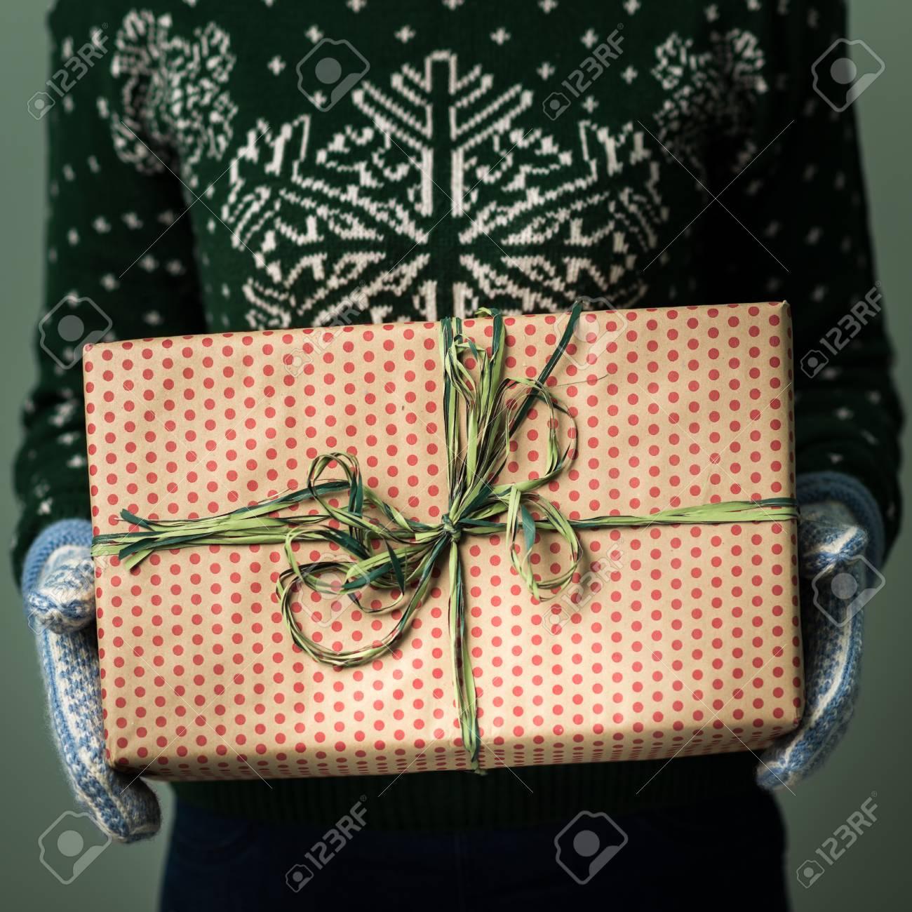 Weihnachtsgeschenk Weihnachten.Stock Photo