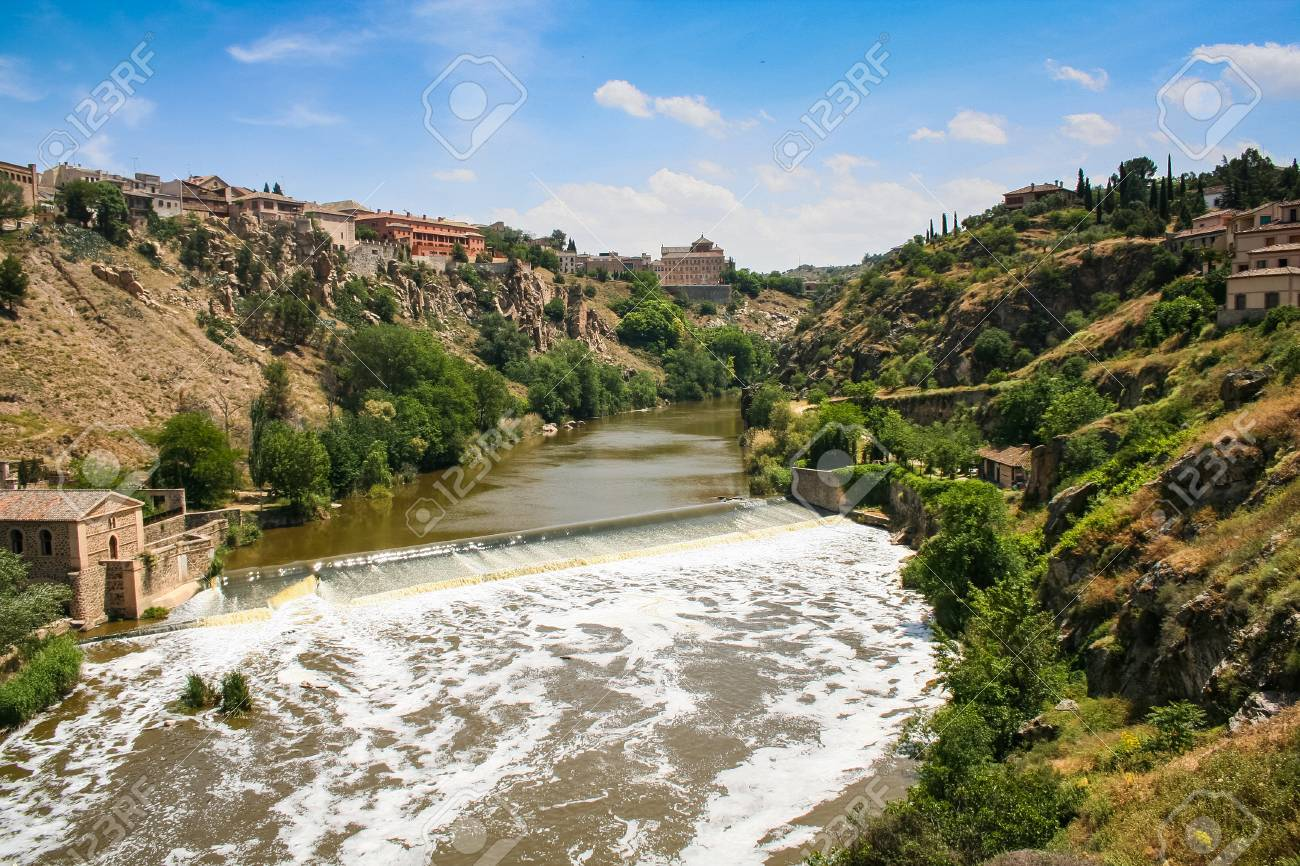 The Tagus River In Toledo City In Central Spain Capital Of Province