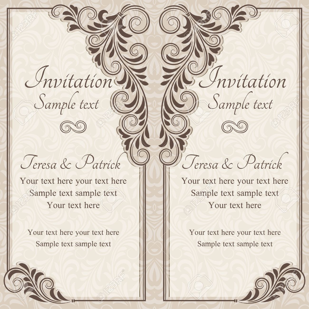 Wedding Invitation Background Stock Photos Royalty Free Business Images