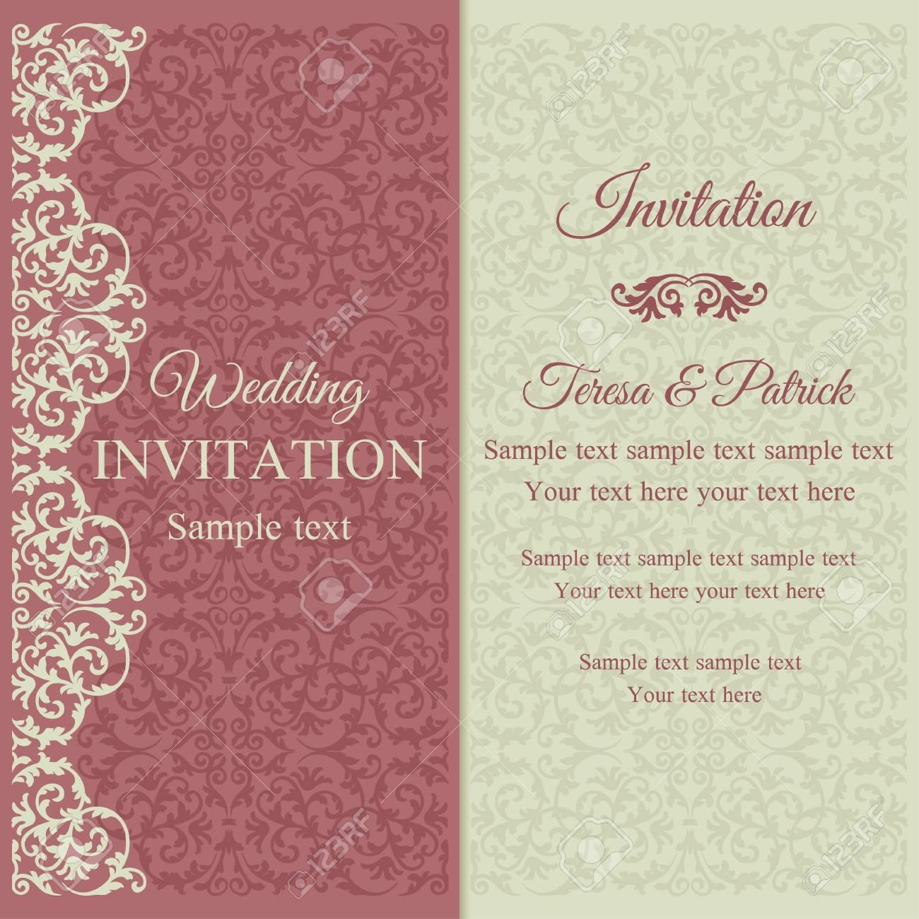 Fancy Baroque Wedding Invitations Photo Resume Ideas