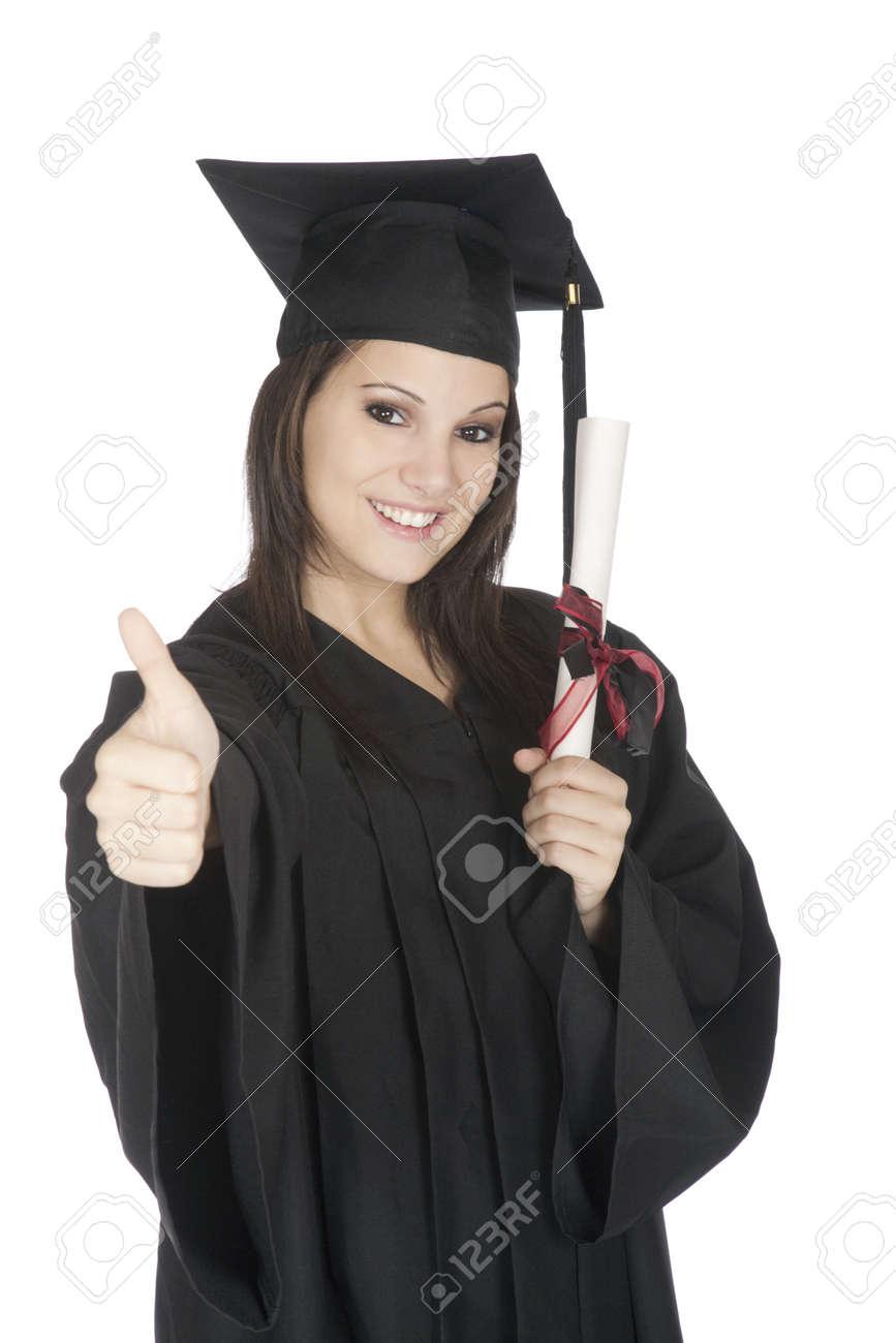 Vestido negro en graduacion