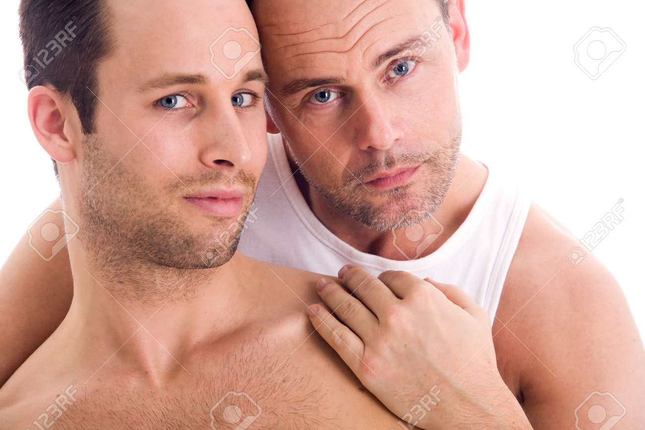 Portrait of a happy homo couple on white Stock Photo - 4441584