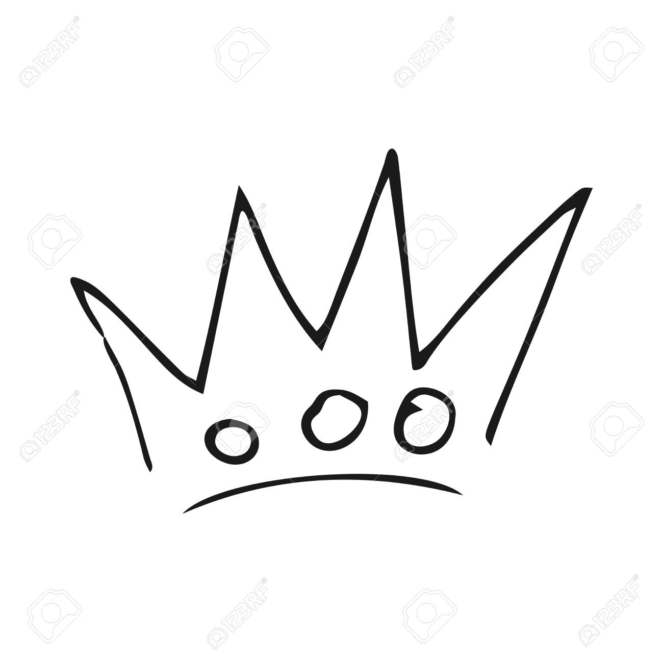 Hand drawn crown  Simple graffiti sketch queen or king crown
