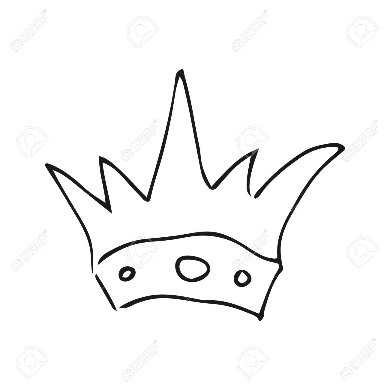 Hand Drawn Crown Simple Graffiti Sketch Queen Or King Crown Royalty Free Cliparts Vectors And Stock Illustration Image 127735063 Let us decorate our princess crown drawing too. 123rf com