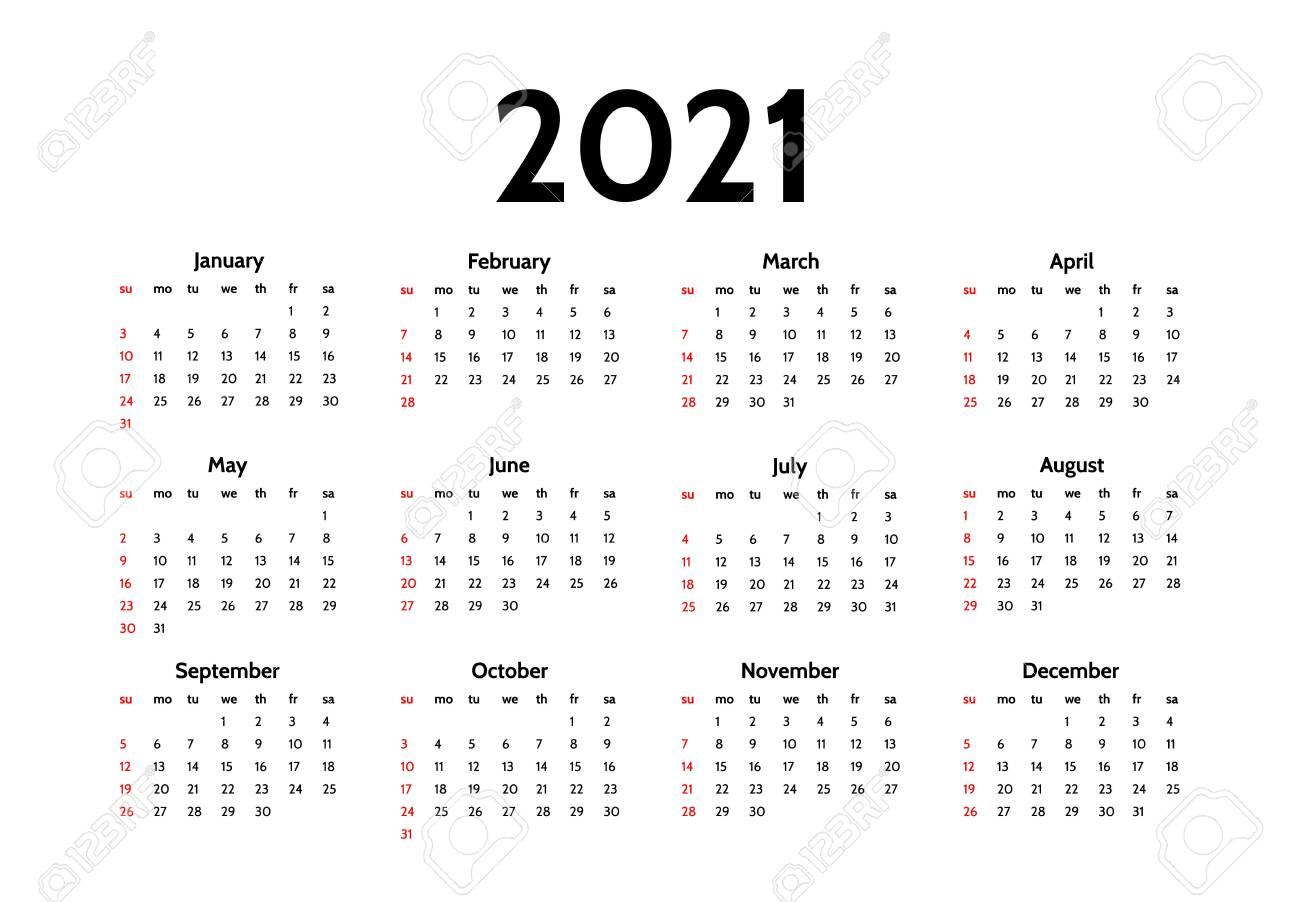 2021 Calendar Sundays Images
