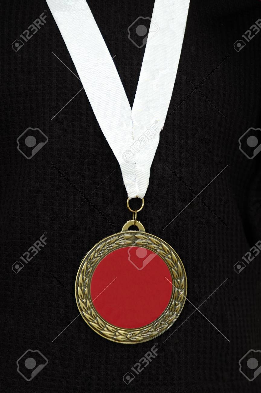 Red medal, you can put your sign or words here Stock Photo - 789430