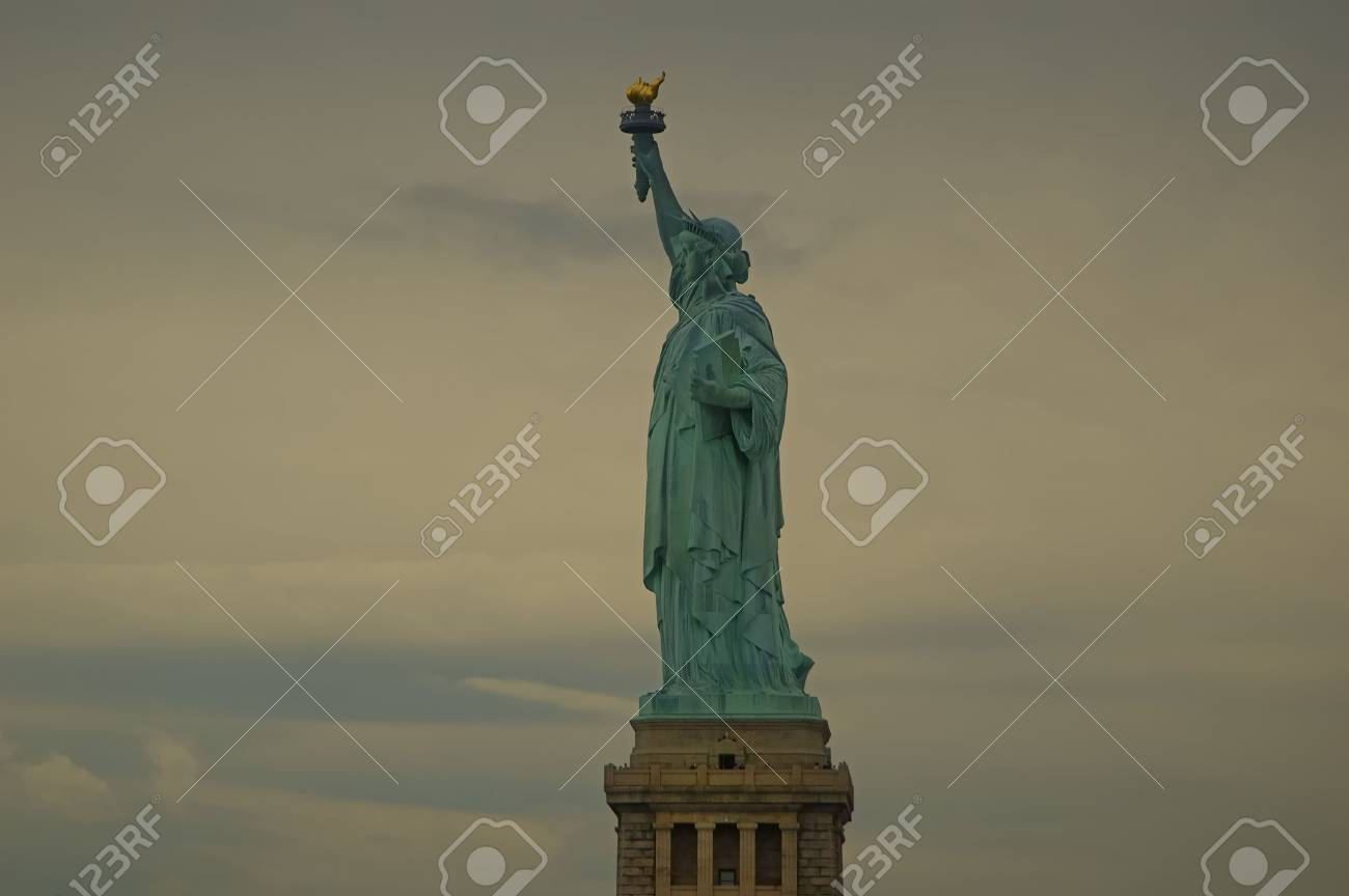 Statue of liberty on a cloudy overcast day Stock Photo - 1326767