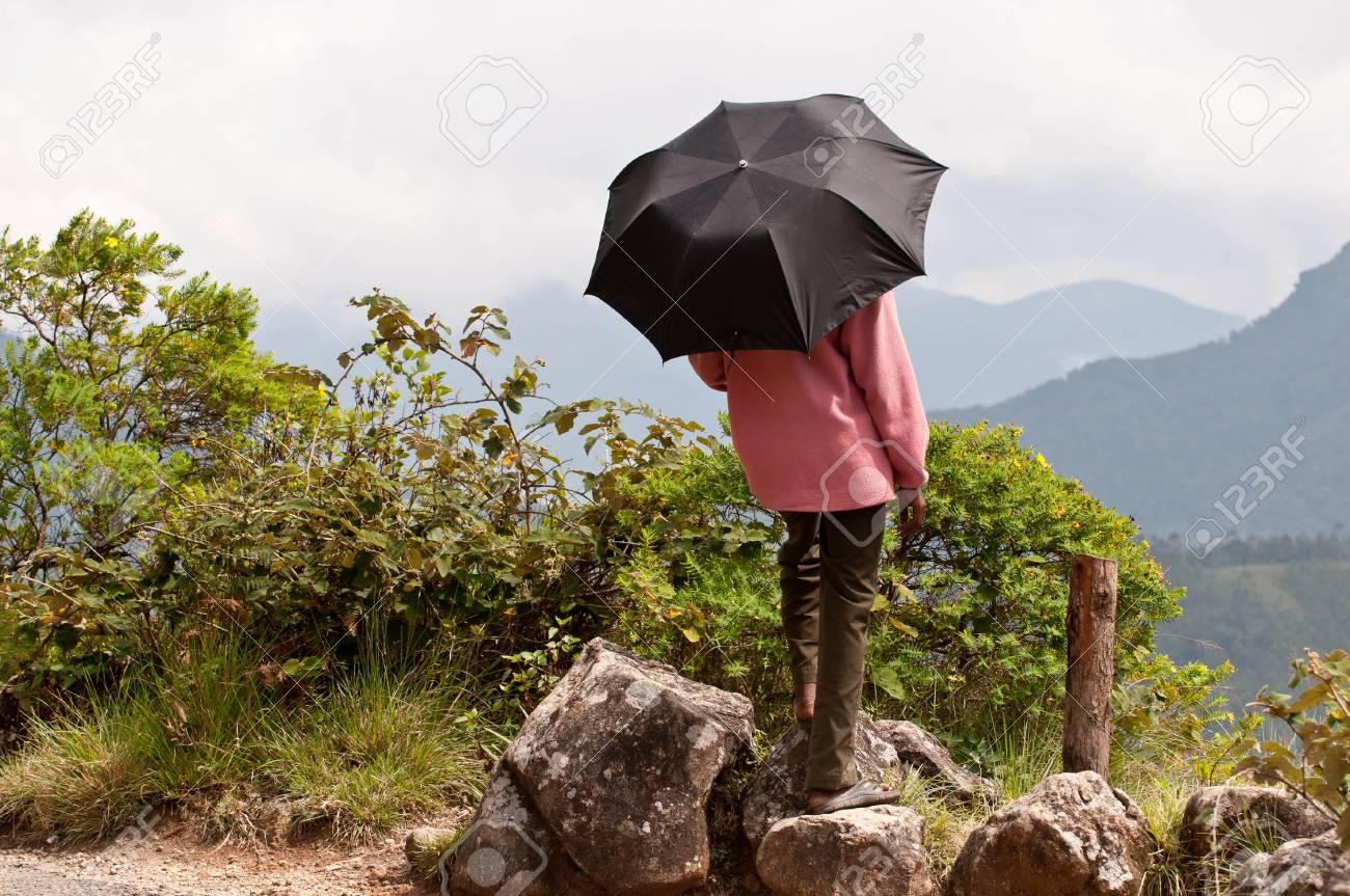 A girl enjoying nature at her vacation Stock Photo - 8486131