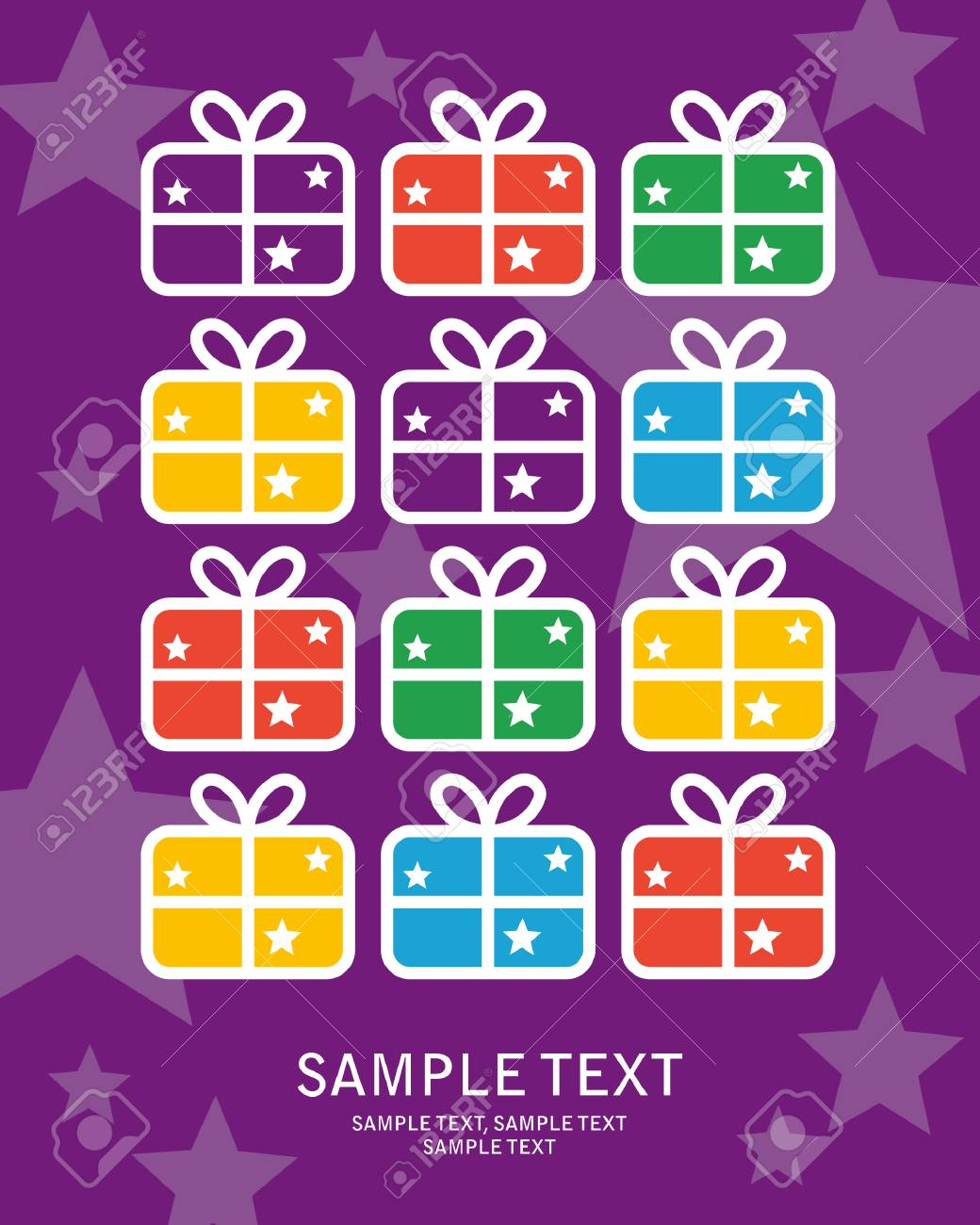 greeting card gift Stock Vector - 5131237