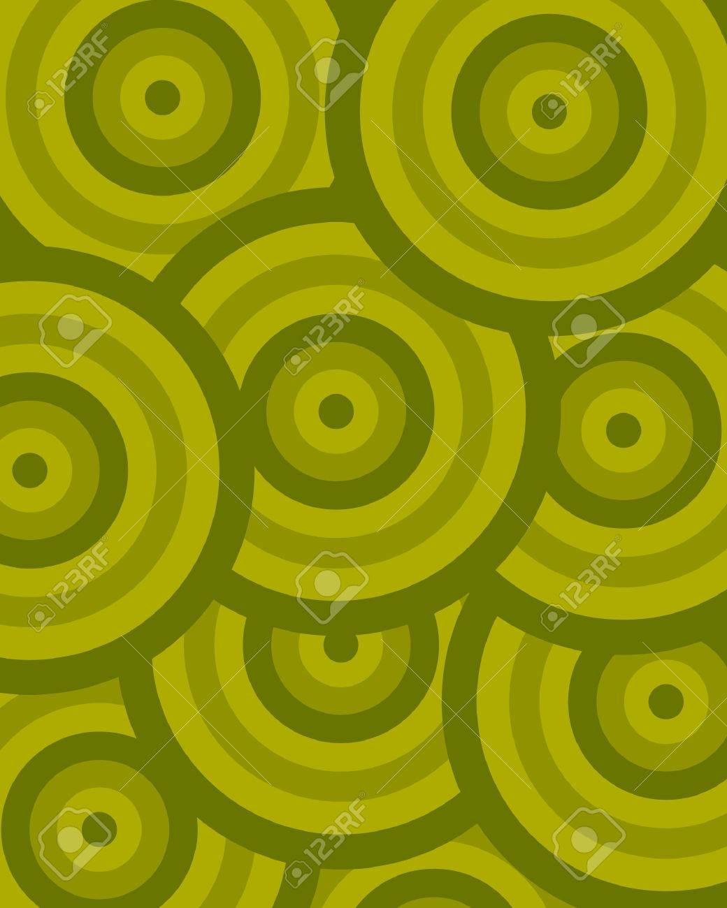 pattern circle green Stock Vector - 5131226