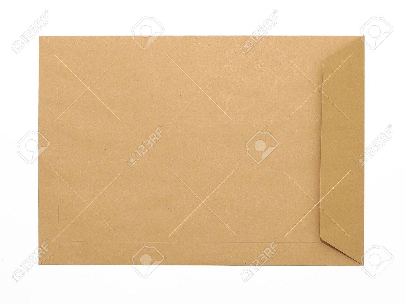 Brown Envelope document on white background Stock Photo - 8082105