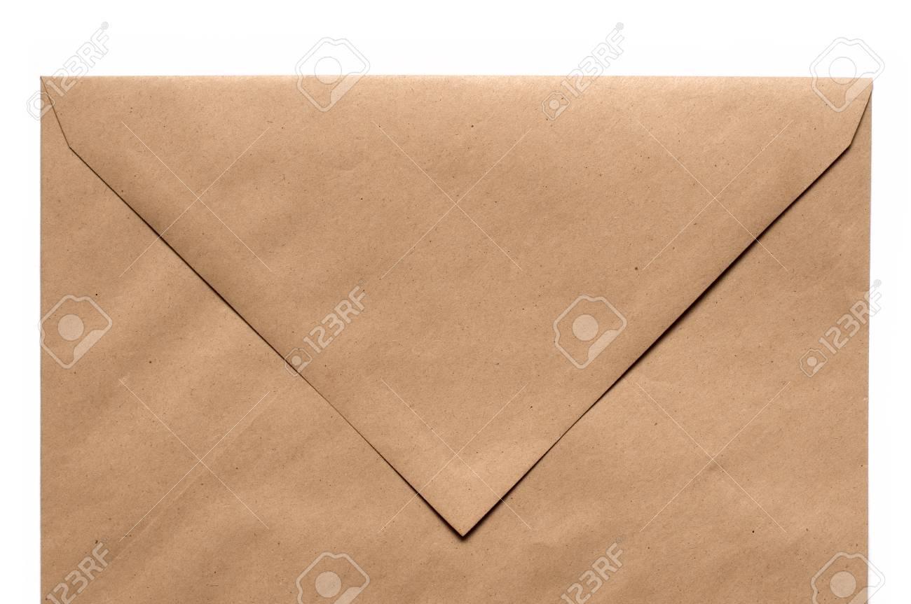 Brown Envelope on white background Stock Photo - 9332450
