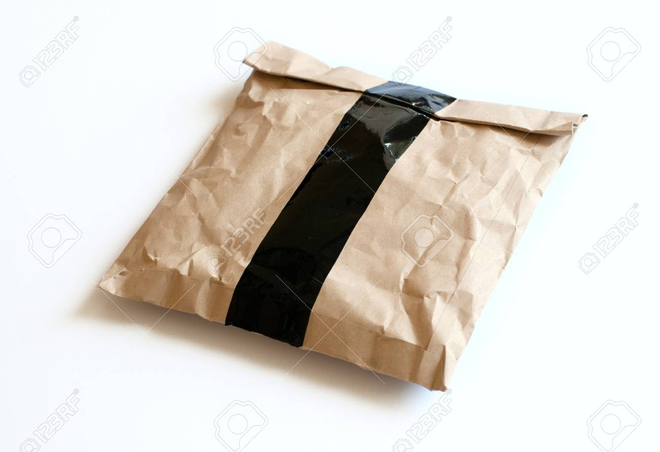 Brown Envelope document on white background Stock Photo - 9759132