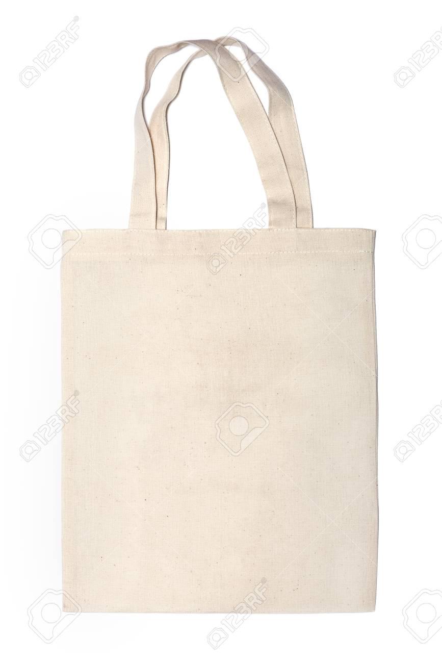 3d79a0f76 Bolsas ecológicas de algodón en el fondo blanco Foto de archivo - 29306878