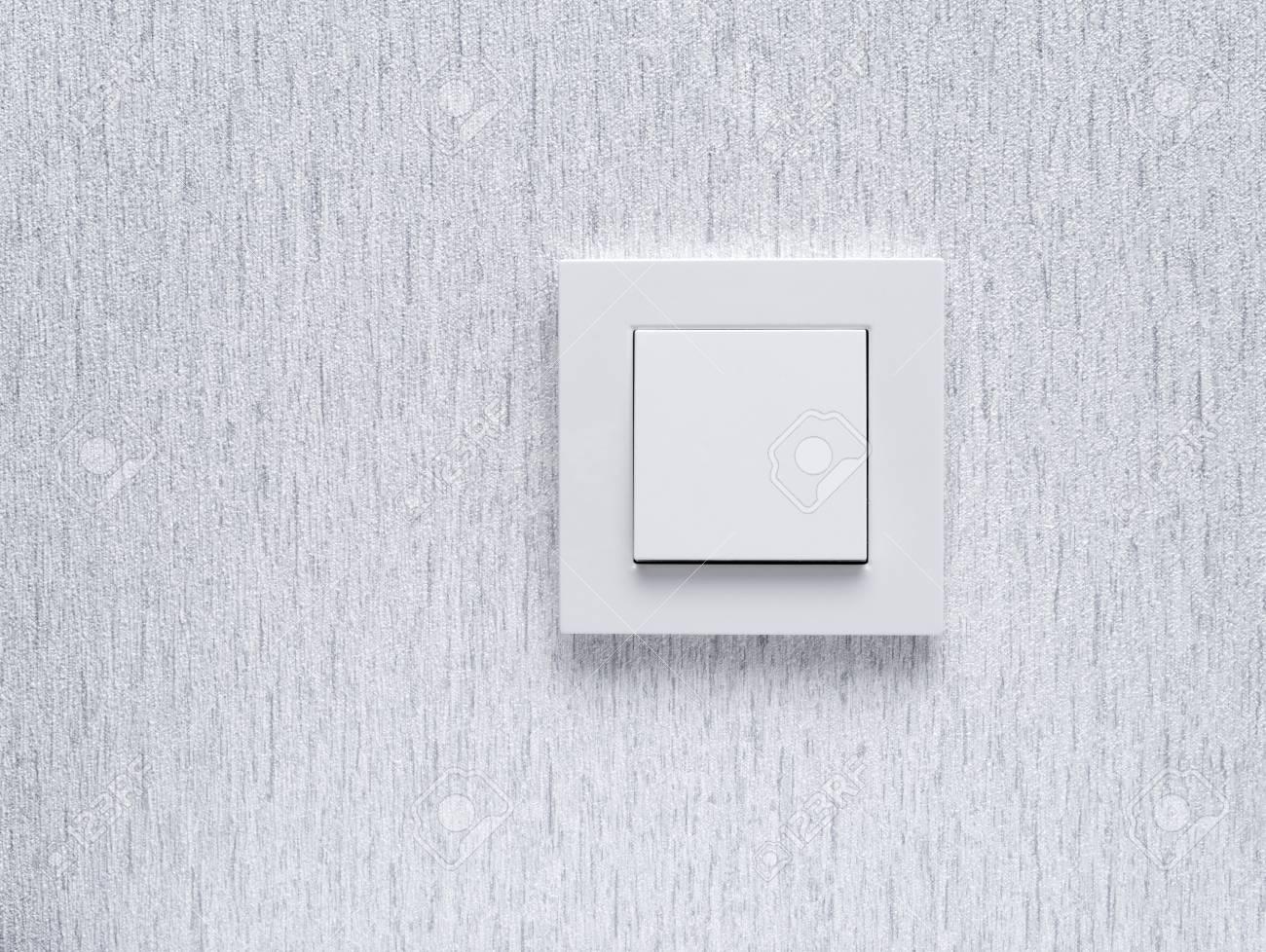 Lichtschalter / Weiß Lichtschalter Auf Weiße Wand / Konzept / Ein ...