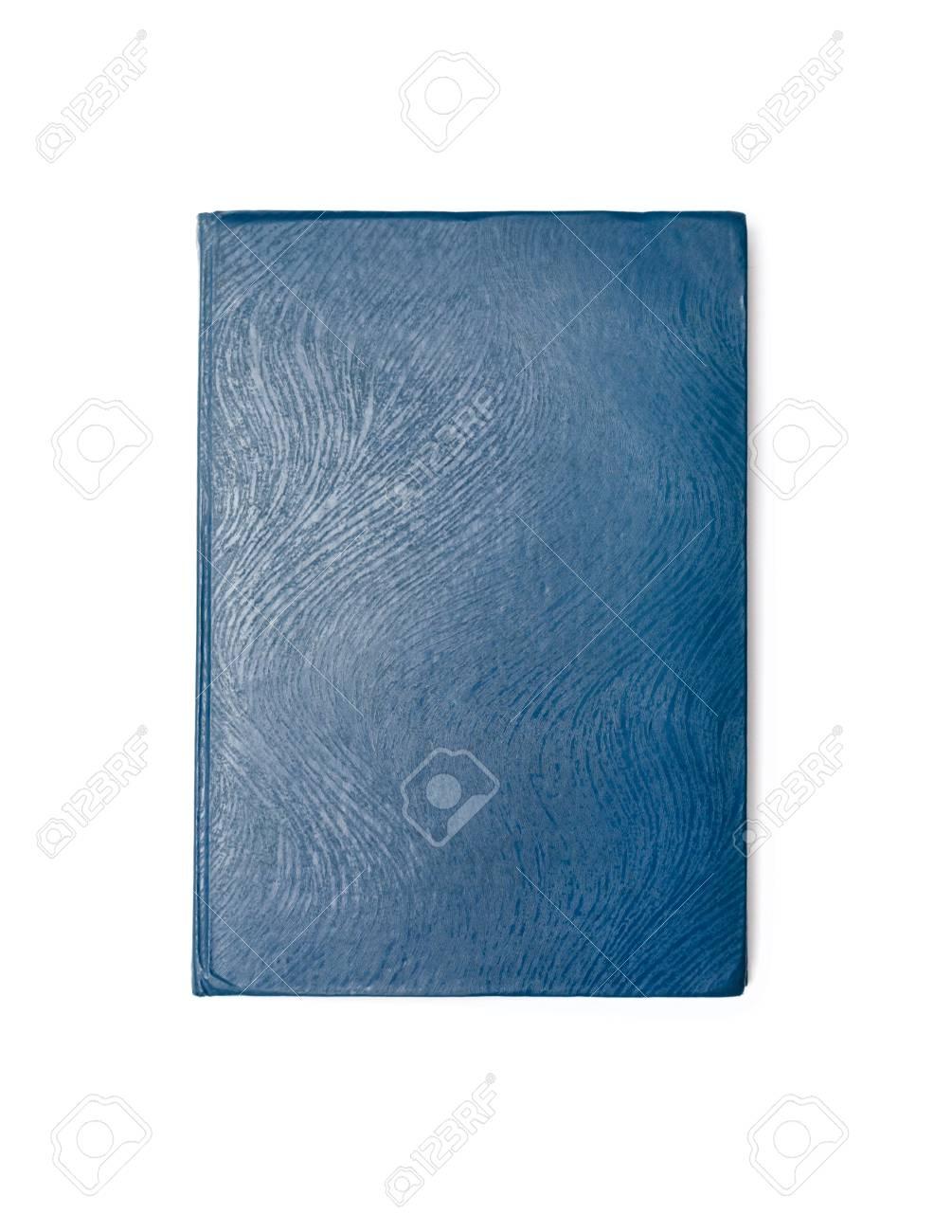 Blue Livre Ferme Isole Sur Fond Blanc Vue D En Haut