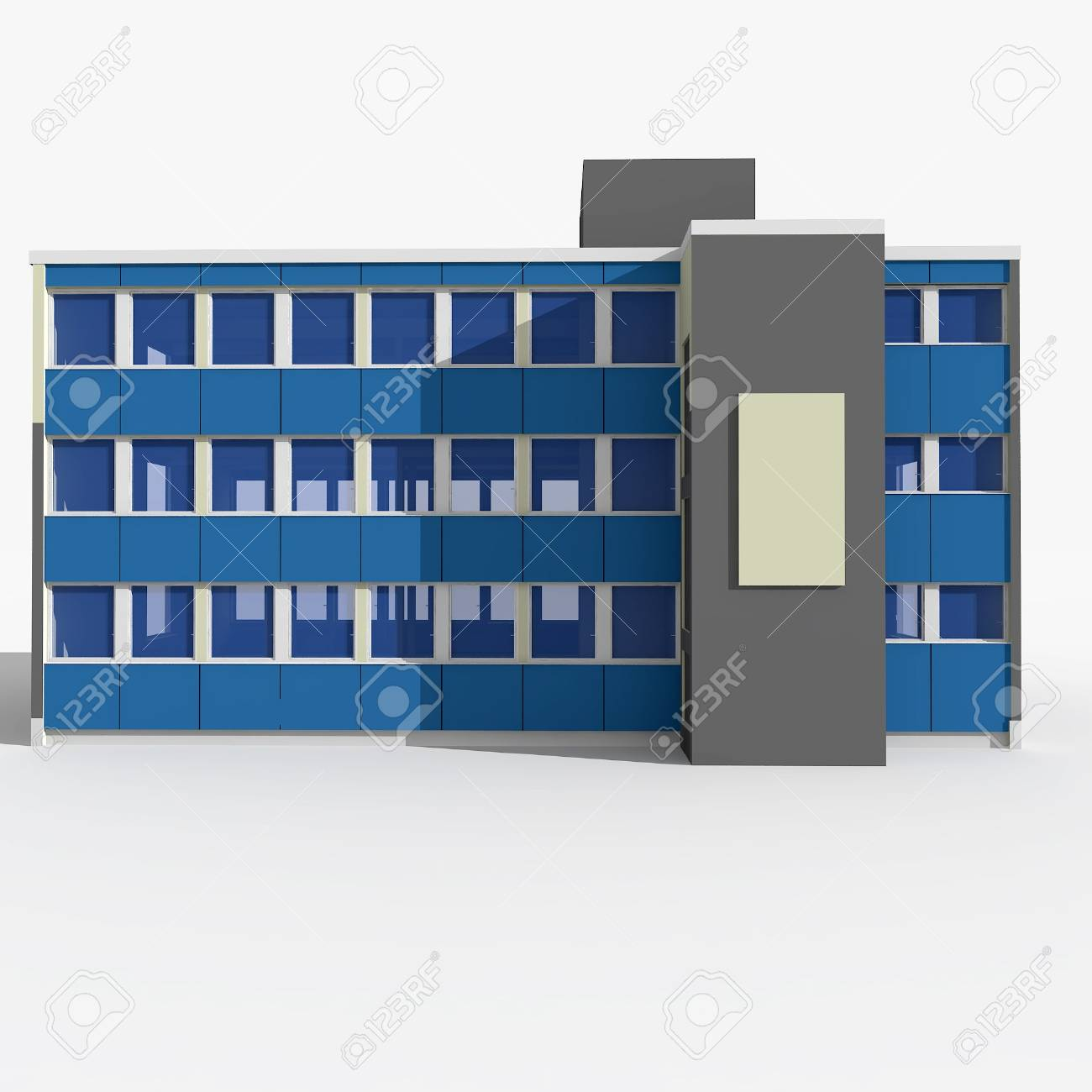 3d house isolated on white rendered generic Stock Photo - 8065983