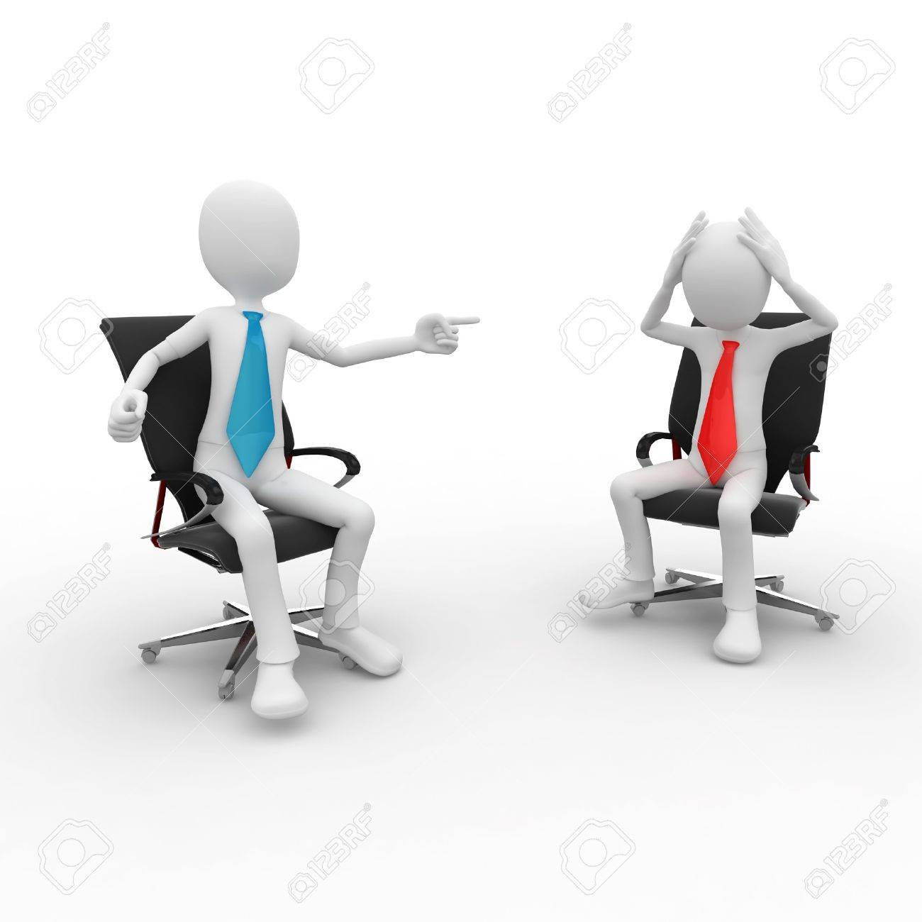 3d man at the office meeting isolated on white Stock Photo - 8187395