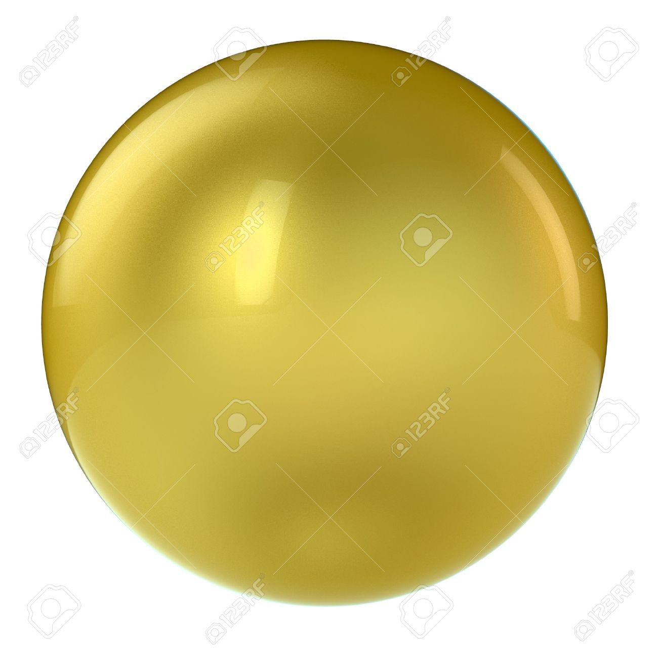 3d golden sphere in studio environment isolated on white Stock Photo - 8188037