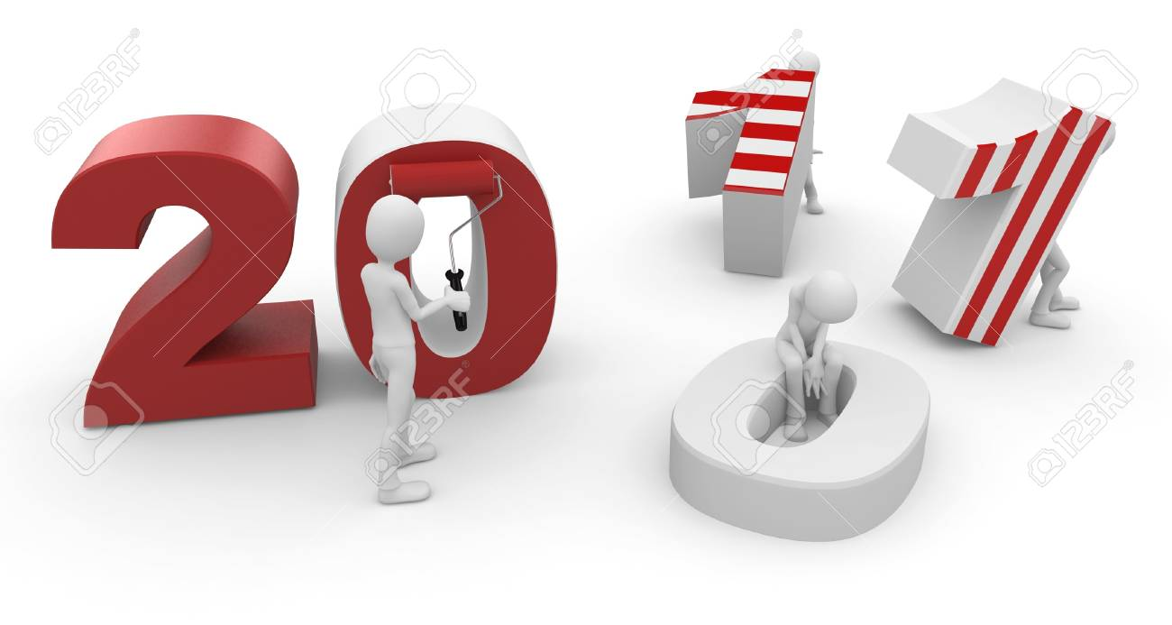 3d man with 2011 numbers isolated on white Stock Photo - 8188084
