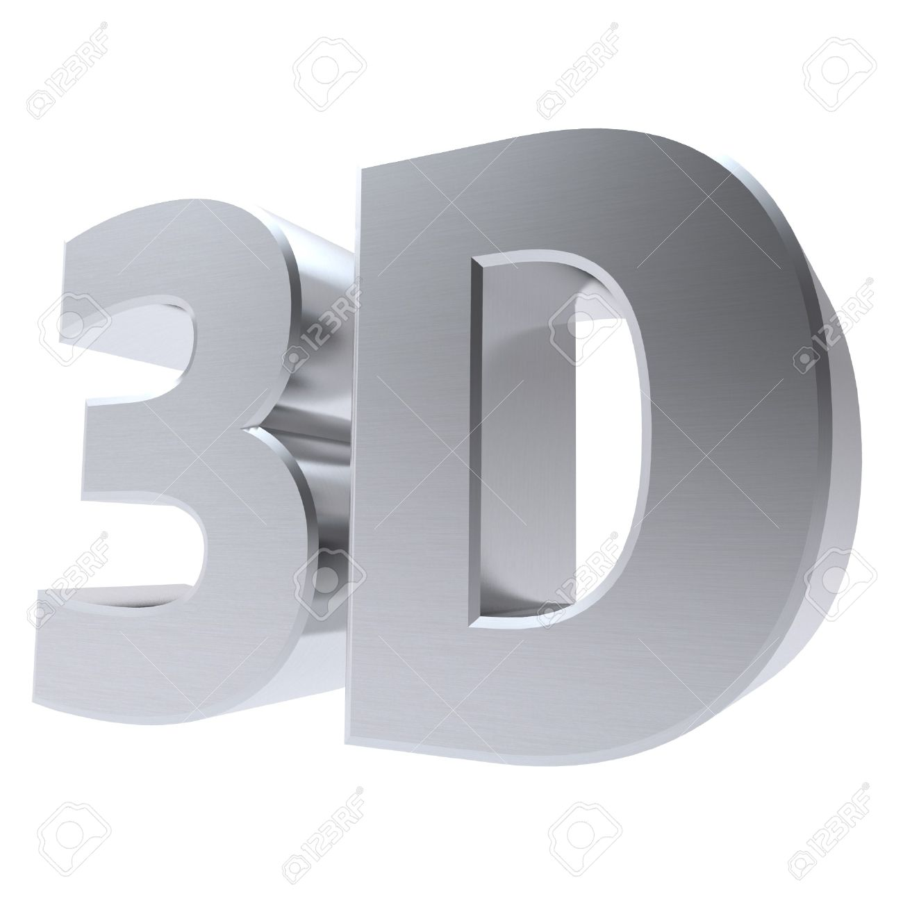 shiny metallic 3d word 3D made of silver chrome Stock Photo - 8188079