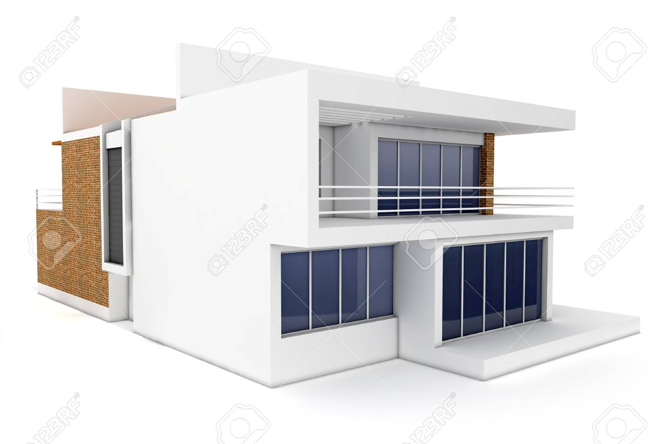 3d house isolated on white rendered generic Stock Photo - 8782620