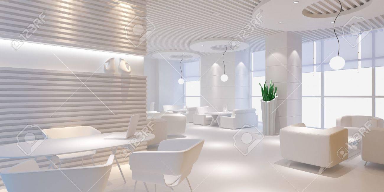 3d Dise O Interior De Habitaci N En Blanco Con Muebles Blancos  # Muebles Blancos