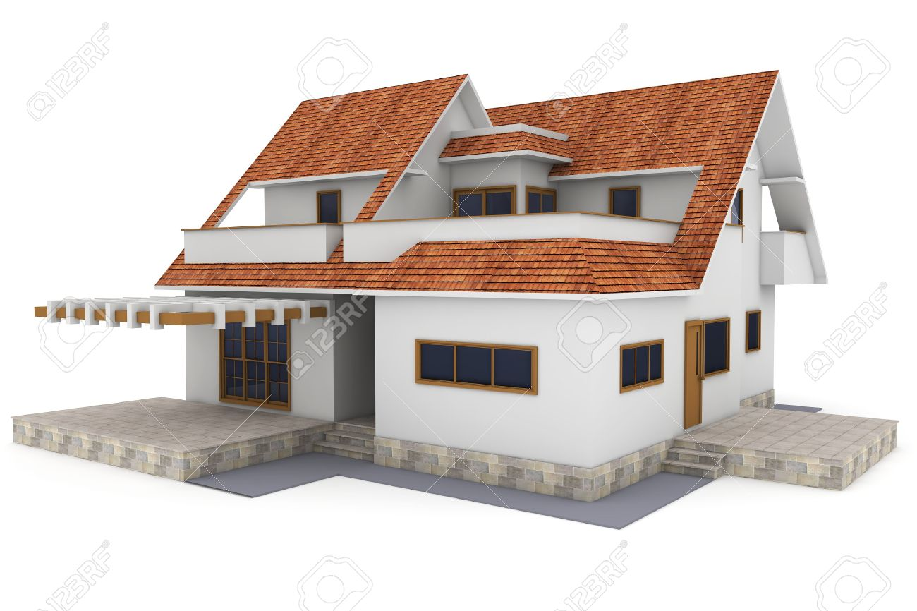 home design 3d roof. 3d house isolated on white rendered generic Stock Photo  9335081 House Isolated On White Rendered Generic Picture