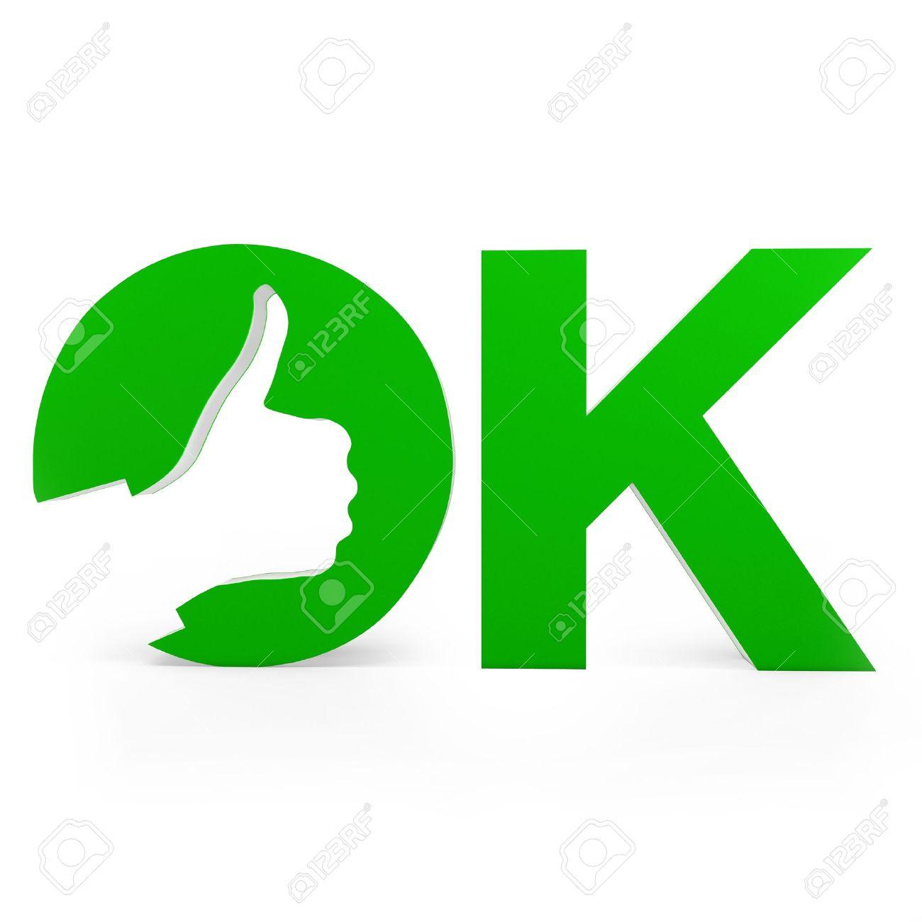 ok design 3d Ok Sign With Hand Design On White Background Stock Photo  ok design