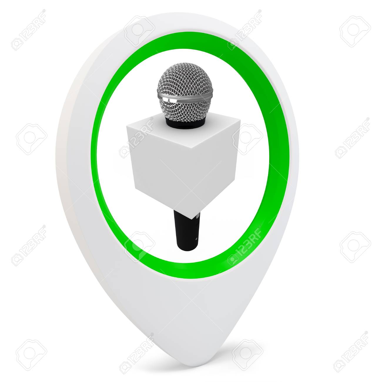 3d round pointer with on white background Stock Photo - 16133822