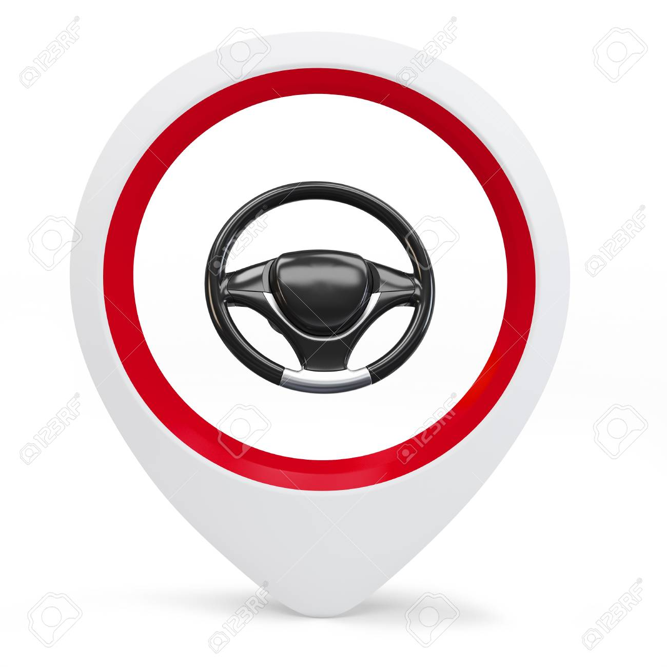 3d round pointer with drive wheel on white background Stock Photo - 16133832