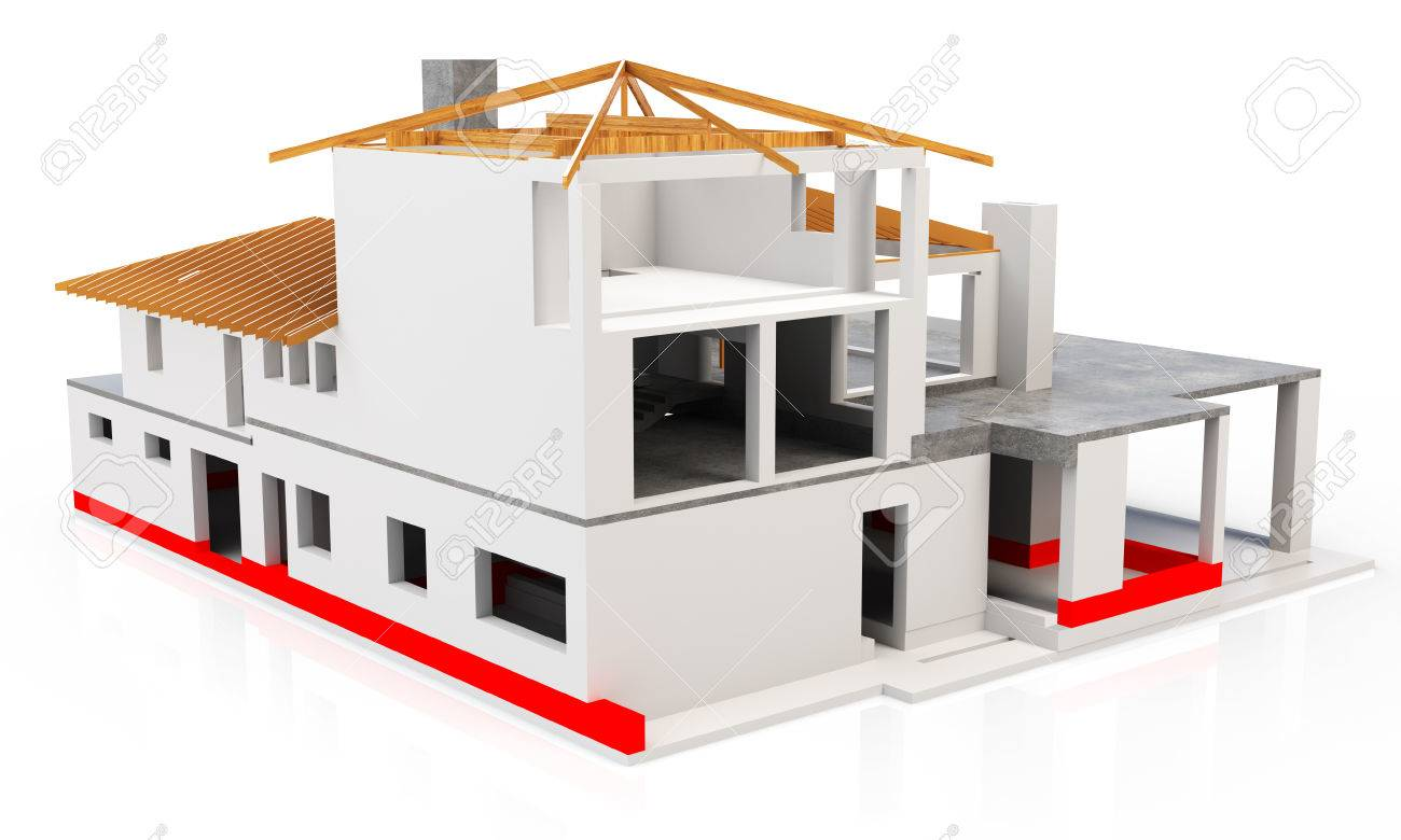 3d modern house building stage isolated on white background stock 3d modern house building stage isolated on white background stock photo 38508061 ccuart Choice Image