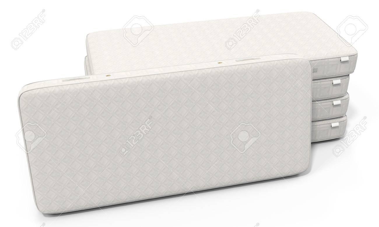 Matratzenstapel  3D-weiße Matratze Stapel Auf Weißem Hintergrund Lizenzfreie Fotos ...