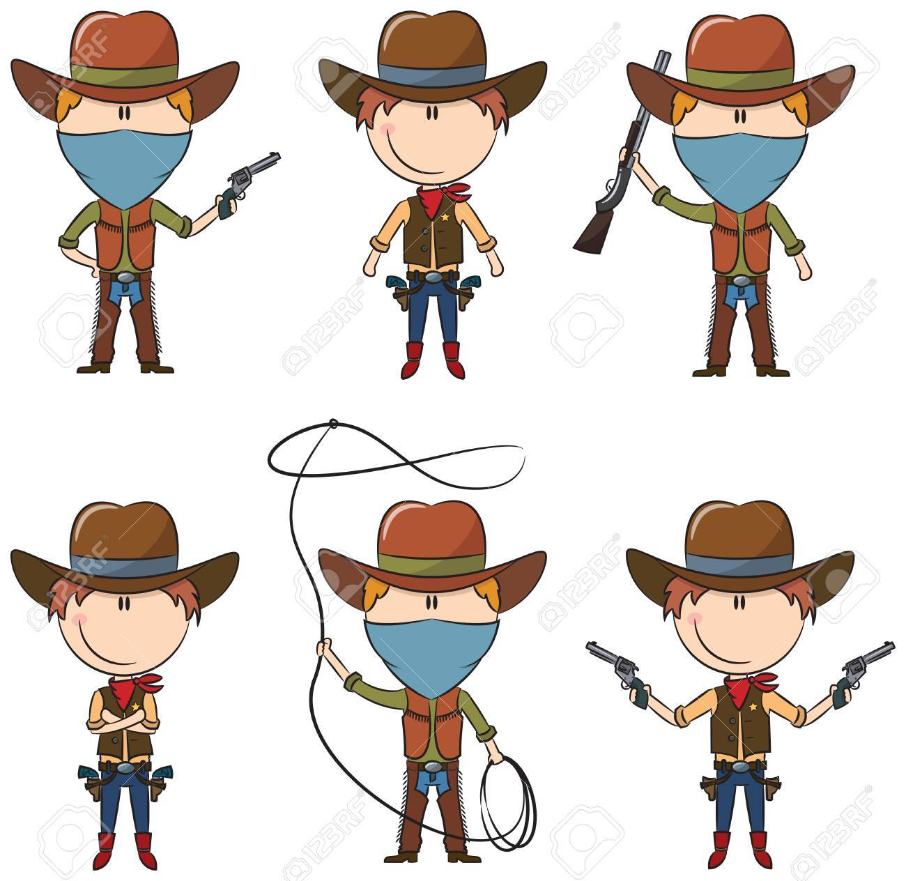 Sheriff And Bandit Characters