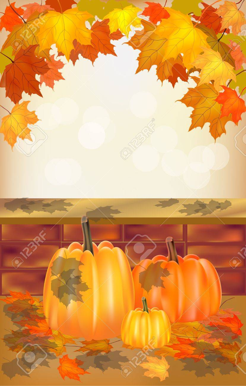 Autumn , postcard Stock Vector - 15581338