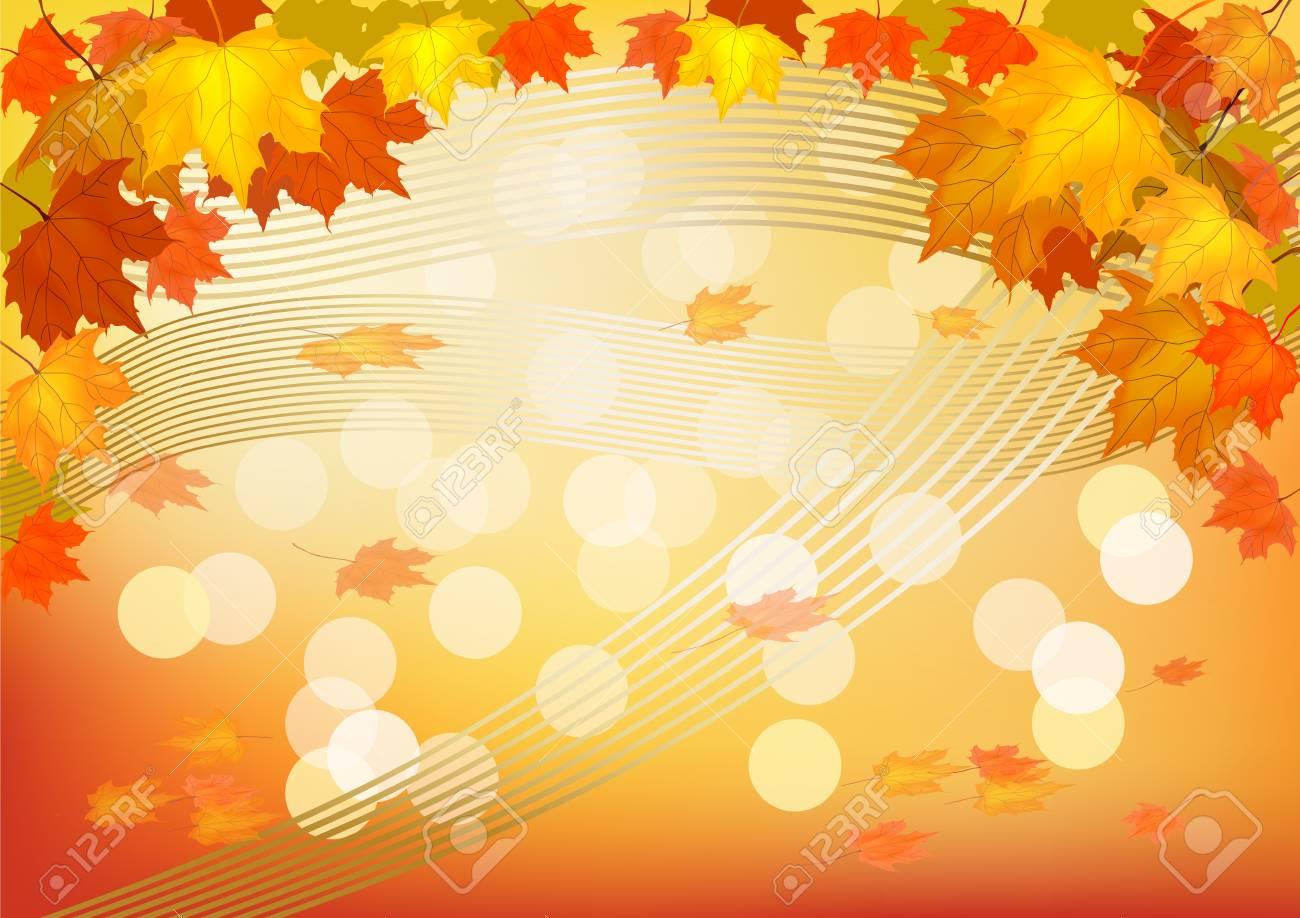 Autumn , postcard . Stock Vector - 16100177