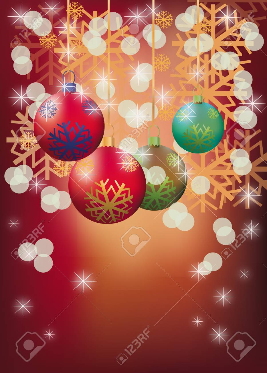 New year, christmas , postcard Stock Vector - 16933539