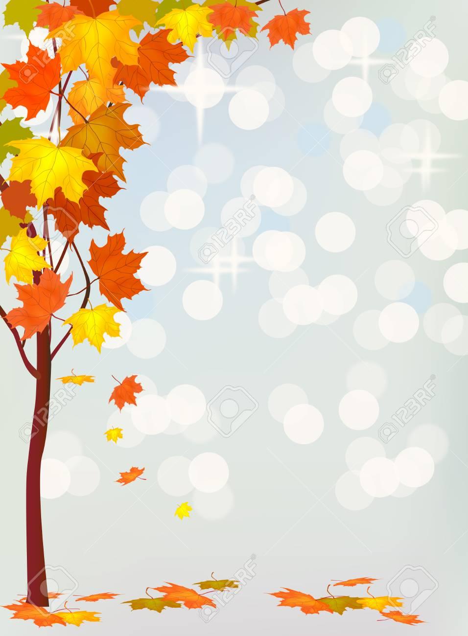 Autumn holiday postcard Stock Vector - 24053797