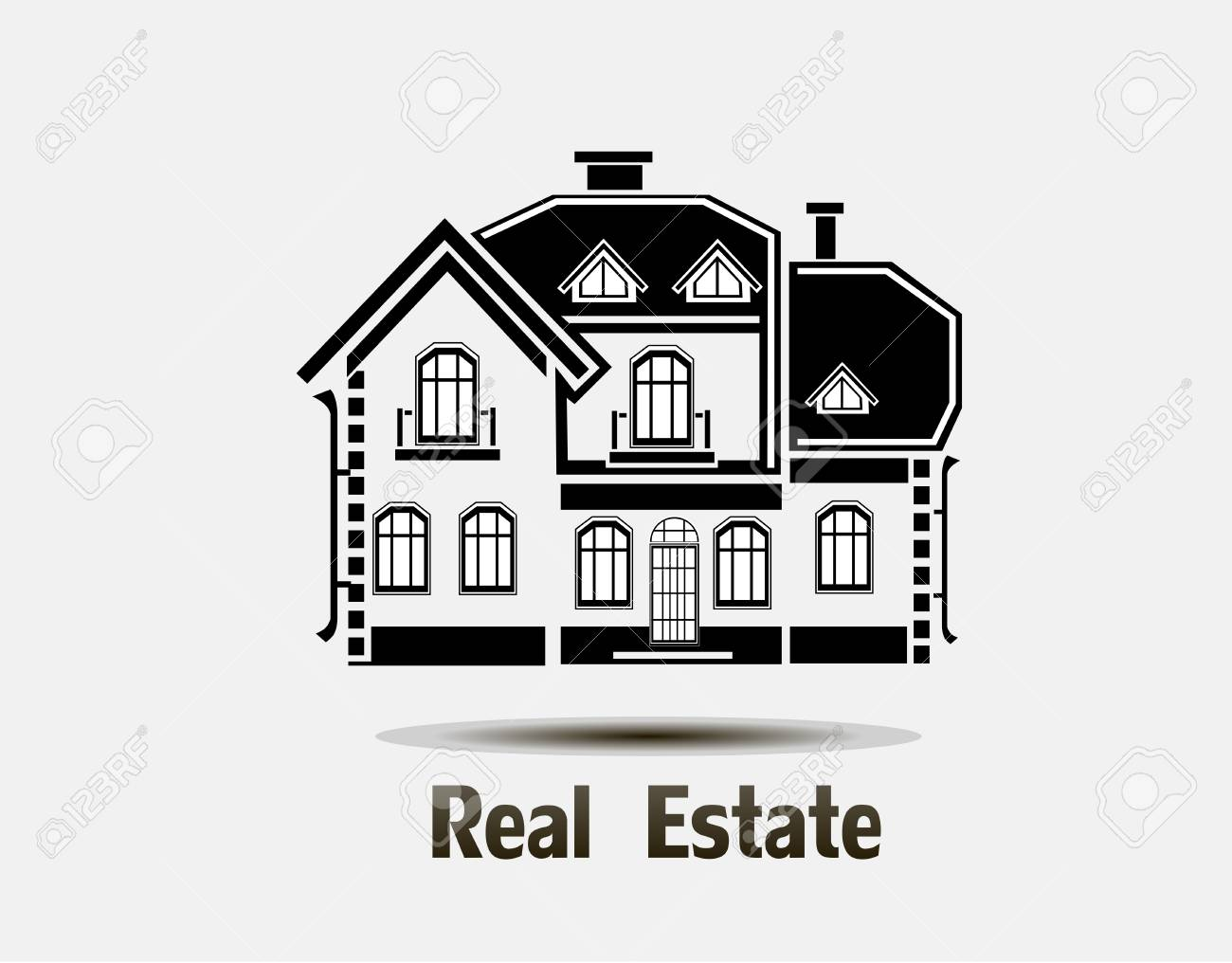 Vector private house symbol of the house for all kinds of symbol of the house for all kinds of advertising resources stock vector biocorpaavc Gallery